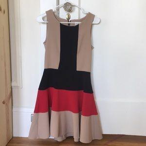 New - color block, flattering dress!